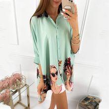 Primavera mulheres blusas 3/4 manga outono blusa feminina blusa camisa escritório elegante trabalho camisa mais tamanho superior blusas mujer de moda