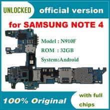 Unlocked N910F Note-4 Samsung 32GB for Galaxy Europe-Version Original