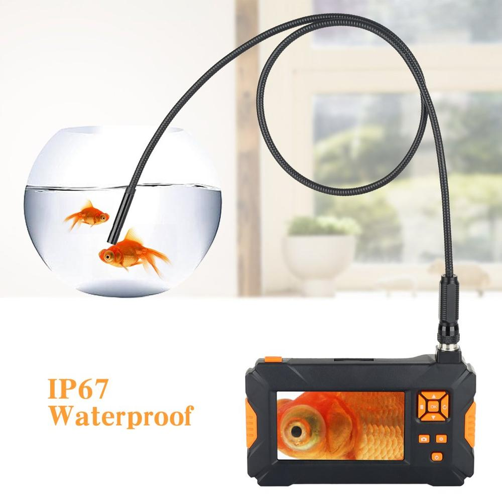 4.3-inch Color LCD HD Handheld Screen Endoscope 1080P P30 Configurable Snake Tube Hard Wire Industrial Tube Endoscope