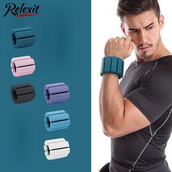 1pc Wrist Weight Bracelet Adjustable Silicone Wrist Ankle Strap Running Yoga Pilates Training Exercise Fitness Equipment 450g 1