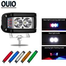 цена на 20W Flash Light LED Work Light Bar 4x4 Car ATV Truck Motorcycle Warning Strobe Turn Blue Red White Green Light Bar Signal Lamp