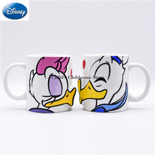 Disney Mickey Minnie Cartoon Ceramic 300ML Water Cup Couple Water Cup Home Office Coffee Cup Can Give Girlfriend
