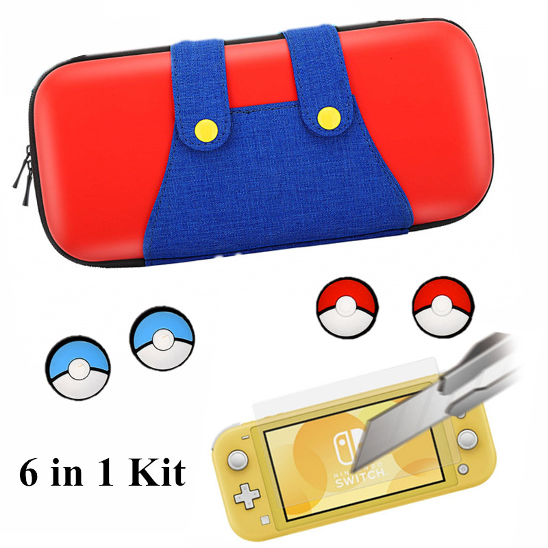 6 in1Portable Case for Nintend Switch lite Bag NS Console Travel Hard Shell Pouch For nintendo switch Lite mini Storage NX bag