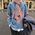 Herbst Marke Kleidung Pullover Jersey Navidad Hombre Männer Casual Plaid Pull Slim Fit Männer Jersey Kleidung Strickwaren Pullover Männer