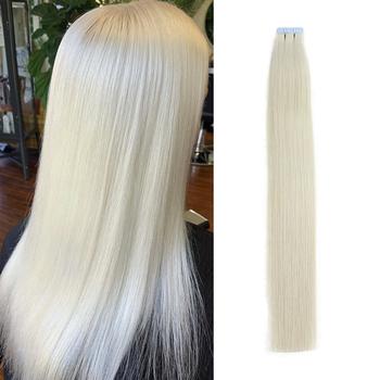 Isheeny Remy Human taśma do włosów rozszerzenia 12 #8222 -22 #8221 wątek skóry bez szwu europejskie próbki włosów do włosów Salon 20 sztuk tanie i dobre opinie 1 g sztuka R3TW Remy włosy Tape in Human Hair Extensions 100 Virgin Human Hair European Remy Human Hair 12 14 16 18 and 22