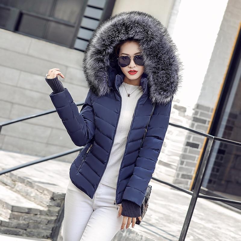 Women Winter Jacket  Detachable Hat  Fur Collar Gloves Warm Thick Parka Cotton Padded Short Female Fashionwomens Coat Jacket