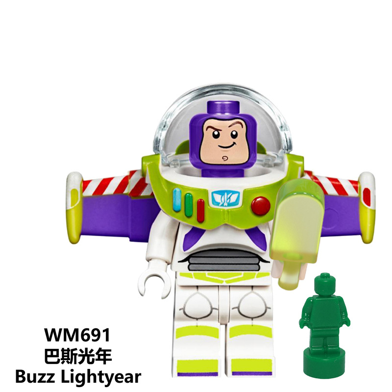Image 2 - Disney Toy Story4 Movie Characters Action Figure Buzz Lightyear Alien Bonnie Woody Jessie Ducky Duke Caboom Building Blocks Kid-in Action & Toy Figures from Toys & Hobbies