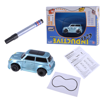 Newly invented children's car inductive magic pen children 8.5*4*3.8 lined after the car followed the route to play fun image
