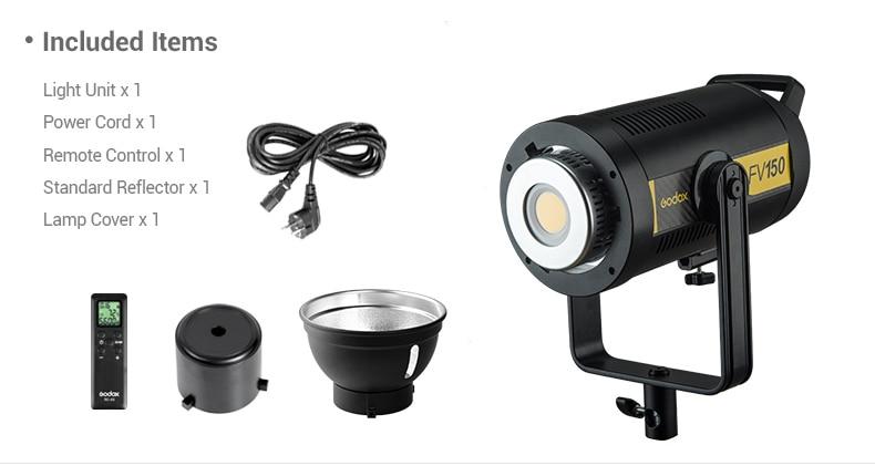 Image 2 - Godox FV150 150 Вт FV200 200 Вт высокоскоростной синхронизационный светодиодный светильник со встроенным беспроводным приемником 2,4G + пульт дистанционного управления Xpro GodoxФотографическое освещение    АлиЭкспресс