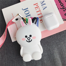 Hot Mini Zipper Headphone Case Portable Earbuds Pouch Box Cartoon Silicone Earphone Storage Bag Protective USB Cable Organizer цена и фото