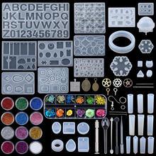 Karışık stil takı epoksi reçine kalıpları Set silikon kalıp UV döküm araçları kil reçine takı döküm kalıpları takı yapımı için DIY