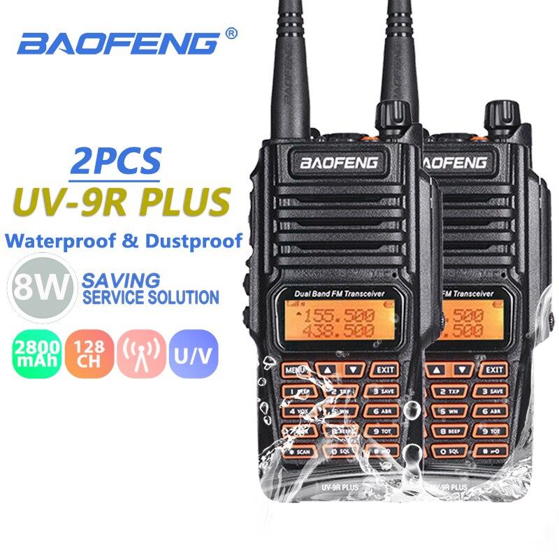2PCS Baofeng UV-9R Plus Waterproof Walkie Talkie IP67 Dual Band Ham Radio Amador UV 9R Hf Transceiver UV9R CB Radio Comunicador