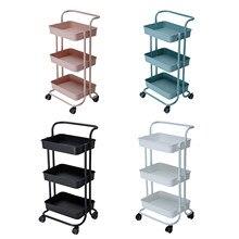 Chariot de stockage mince à 3 niveaux étagère Mobile organisateur de stockage chariot de stockage utilitaire roulant pour chariot de salle de bains de cuisine