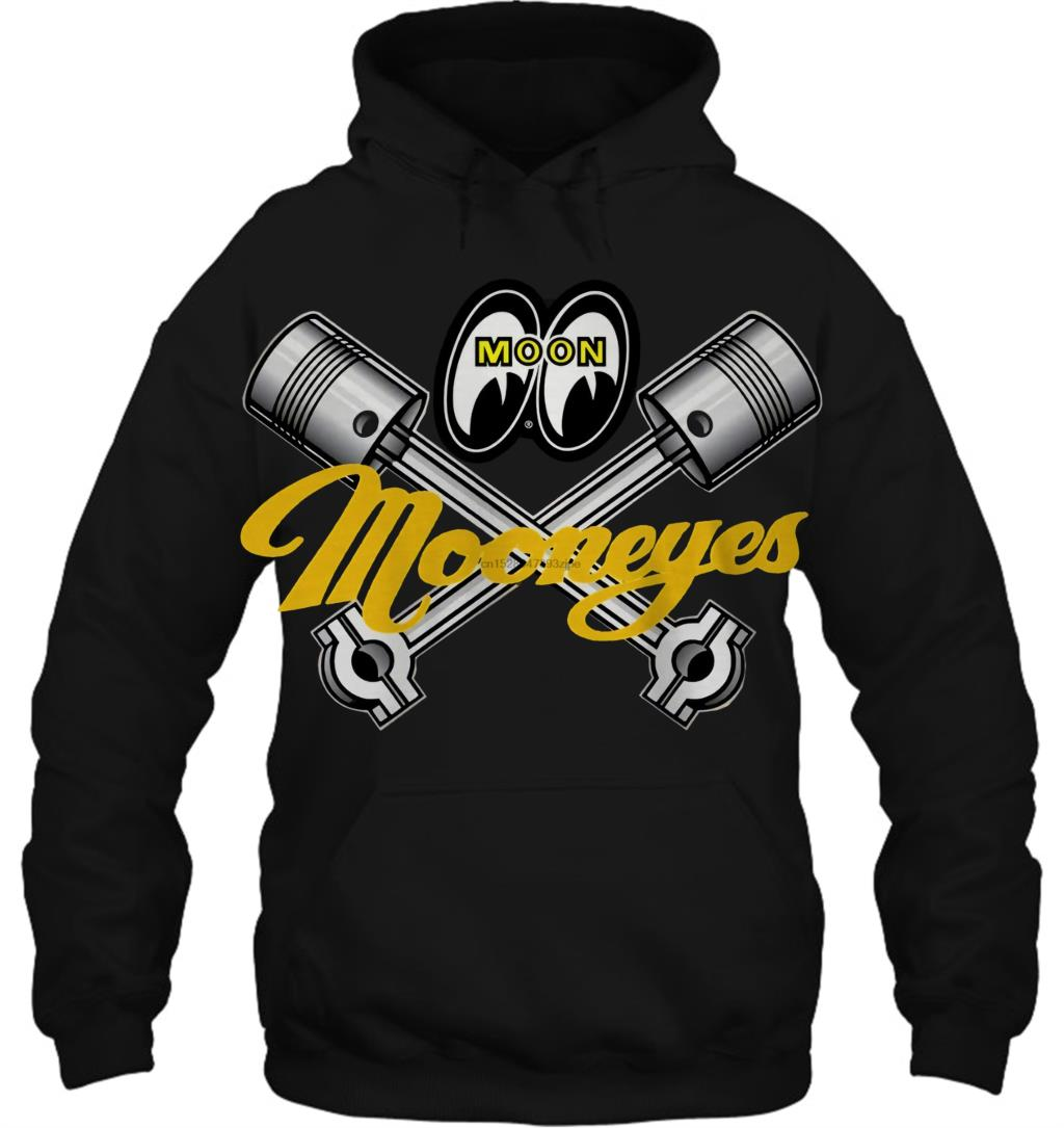 Mooneyes Equipped Moon Speed Piston Shop Apparel Logo Streetwear Men Women Hoodies Sweatshirts