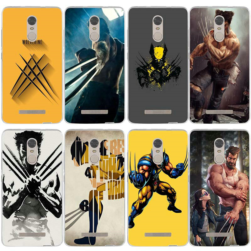 Soft TPU Silicon Mobile Phone Case for Xiaomi Redmi Mi Note 3S 4X 4A 6 5 5S 5A 8 A1 Pro Plus Max 2 3 Wolverine Comics Xmen Hero image