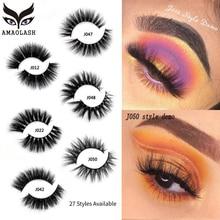 AMAOLASH Eyelashes 3D Mink Lashes Cross False Natural Long Dramatic Makeup Eyelash Extension