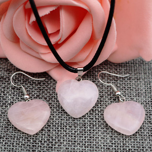 Europe and America Hot Selling Hot Selling Natural Stone ai xin xing Necklace Earrings Powder Amethyst Agate Amber Pendant Neckl