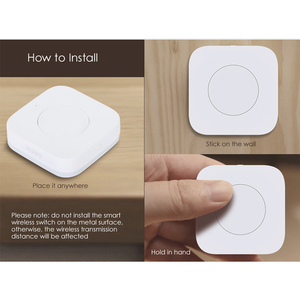 Image 5 - AQara Smart Multi Functional Intelligent Wireless Switch Key Built In Gyro Function Work With Android IOS smart home APP