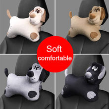 Fashion Cartoon Cute Dogs Auto Car Seat Head Neck Rest Cushion Headrest Pillow Soft Plush Pad Car Safety Pillow Car Accessories(China)