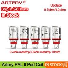 5個10個動脈pal iiコイル0.7ohmメッシュコイル & 1.0ohm正規元の交換コイルヘッドpal 2ポッド吸うキット