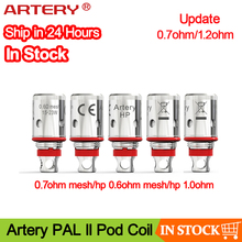 5pcs 10pcs Artery PAL II Coil 0.7ohm Mesh Coil & 1.0ohm Regular Coil Original replacement coil head for PAL 2 Pod Vape Kit