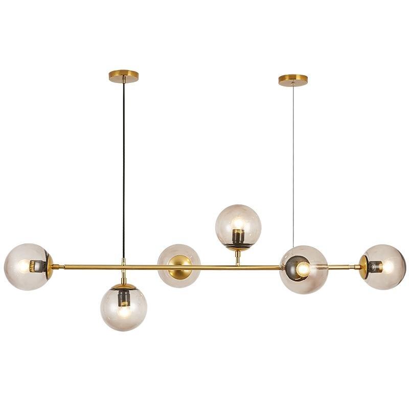 2019 nouveau Style nordique Art bande Suspension lumière moderne salon modèle chambre verre ampoule métal tige Suspension éclairage