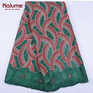 Kalume 2020 New Arrival Swiss African Cotton Lace Fabric Embroidery Swiss Voile Cotton Lace Fabric For Nigerian Party Dress 1971(China)