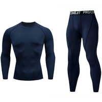 Ensembles de vêtements de Cycle hommes sous-vêtements compressés collants couche de base costume de Sport rashgard mâle complet homme survêtement 2020 nouveau sportswear