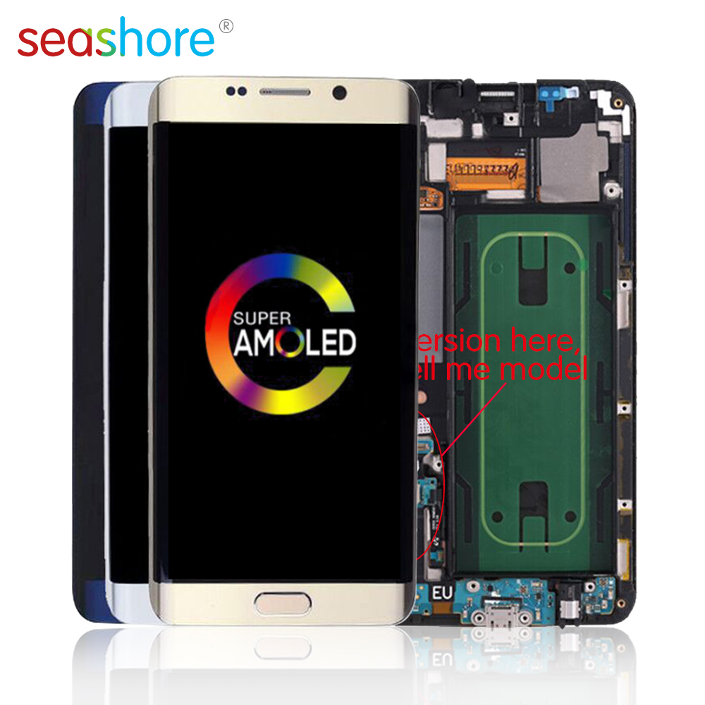 <font><b>ORIGINAL</b></font> For <font><b>SAMSUNG</b></font> Galaxy <font><b>S6</b></font> <font><b>Edge</b></font> Plus LCD Touch Screen Digitizer Assembly For <font><b>Samsung</b></font> <font><b>S6</b></font> <font><b>Edge</b></font> Plus <font><b>Display</b></font> with Frame SM-G928 image