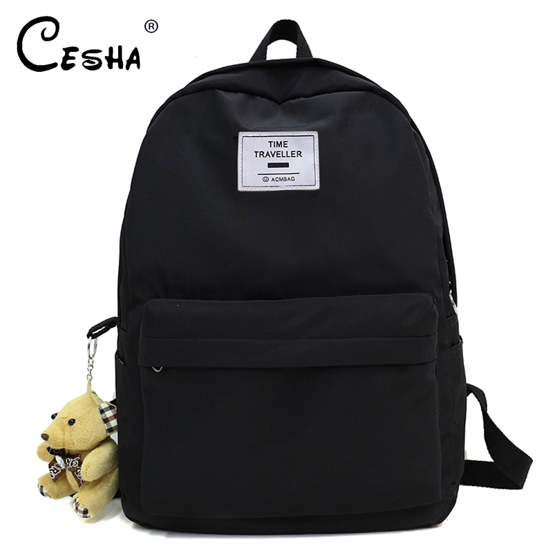 Fashion Women Travel Backpack High Quality Waterproof Nylon School Backpack Pretty Style Girls School Bag Backpack Mochila Sac