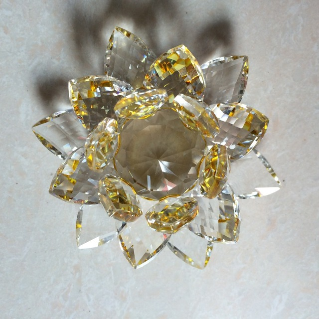 Fengshui K9 Crystal Lotus Flower Paperweight for Wedding Favor Home Decoration Holiday Gifts 6