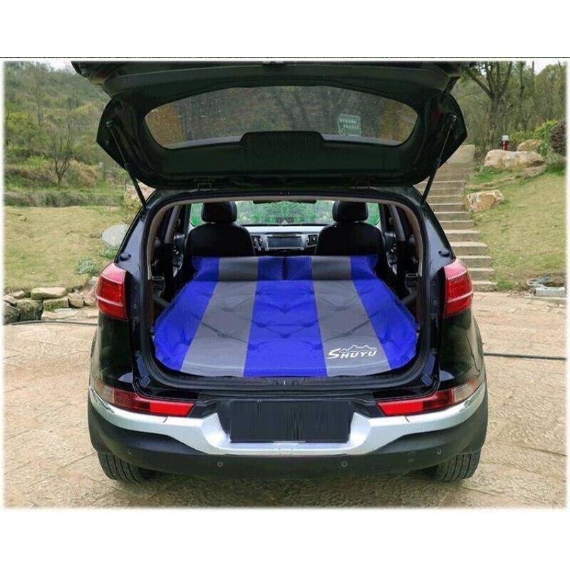 Otomobiller ve Motosikletler'ten Araba Seyahat Yatağı'de Otomobil seyahat hava yastığı yatak şişme yatak el dikişli araba Mercedes Benz için W203 C 2001 2007 title=