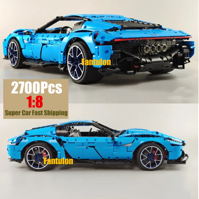 Super Racing Speed Car MOC Technic Car Series Supercar Corvettes Model 2700Pcs 1:8 Model Fit 31189 Building Blocks Brick image