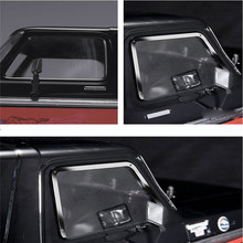 Finestrini laterali in metallo Frame + Lunotto posteriore Telaio + Parabrezza Telaio Per 1:10 TRAXXAS TRX 4 TRX4 Ford Bronco Parti di Automobili del RC