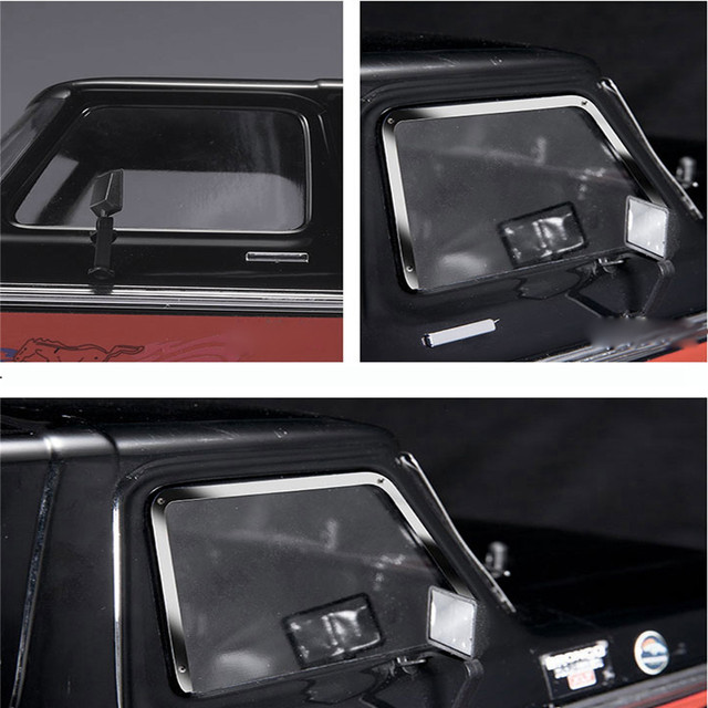 Metal Side Window Frame+Rear Window Frame+Front Window Frame For 1:10 TRAXXAS TRX 4 TRX4 Ford Bronco RC Car Parts