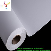 """360gsm inkjet canvas fine art canvas for digital printing and painting 24"""" 36 42 44 50 60 x18m roll size"""