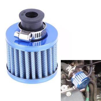 Universal 13mm Blue Car Motor Cold Air Intake Filter Washable Fine Mesh Engine image