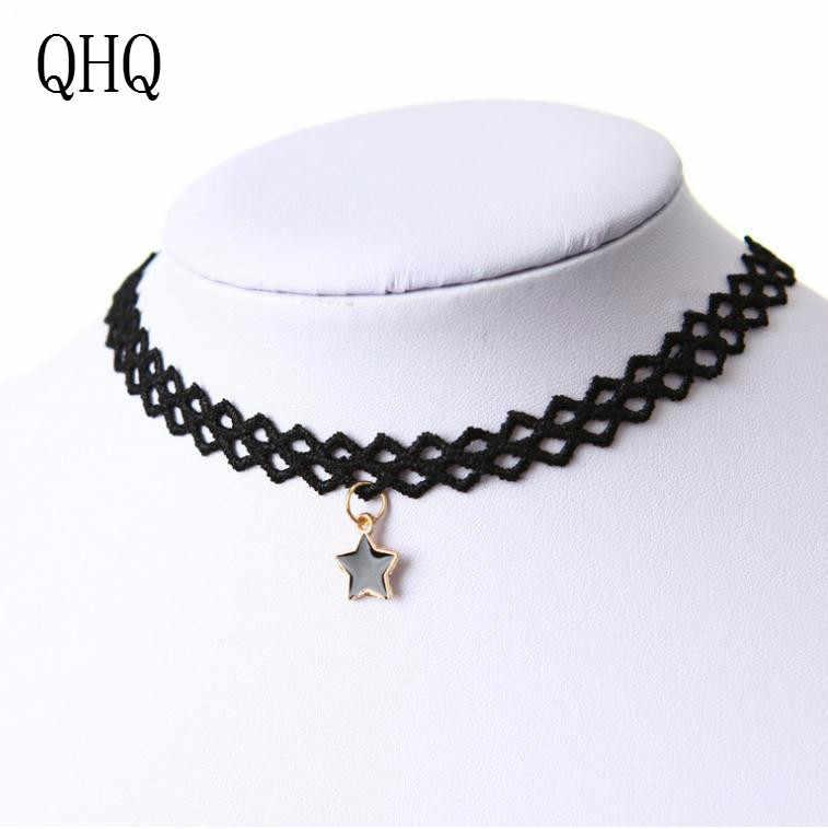QHQ Mặt Dây Chuyền Vòng cổ ngôi sao dây chuyền neckless vô hình người bạn tốt nhất thời trang nữ Choker Tay Phụ kiện trang sức quà tặng Boho