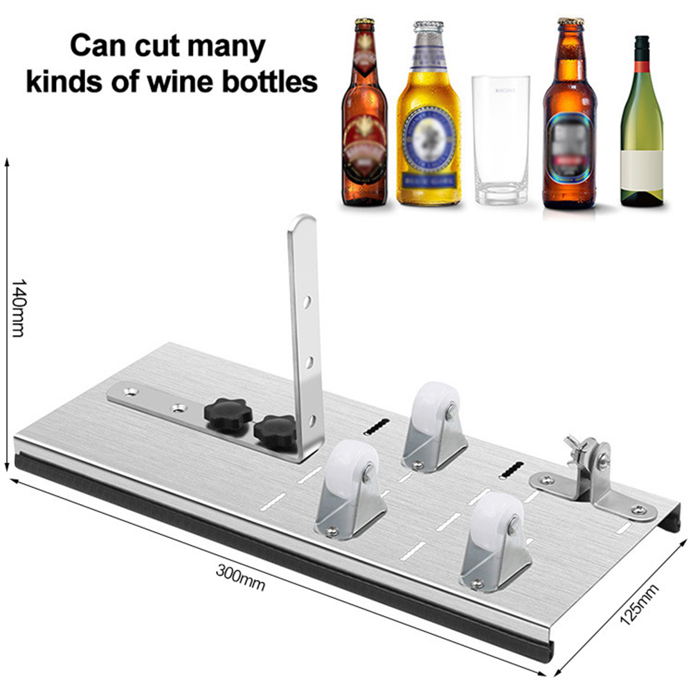 Stainless Steel Glass Bottle Cutter DIY Cutting Machine DIY Functional Glass Bottle Art Craft Wine Beer Liquor Bottle Cutting