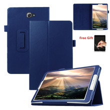 Case Voor Samsung Galaxy Tab Een A6 10.1 2016 T585 T580 SM T580 T580N Pu Leather Slim Funda Voor Samsung T580 case + Film