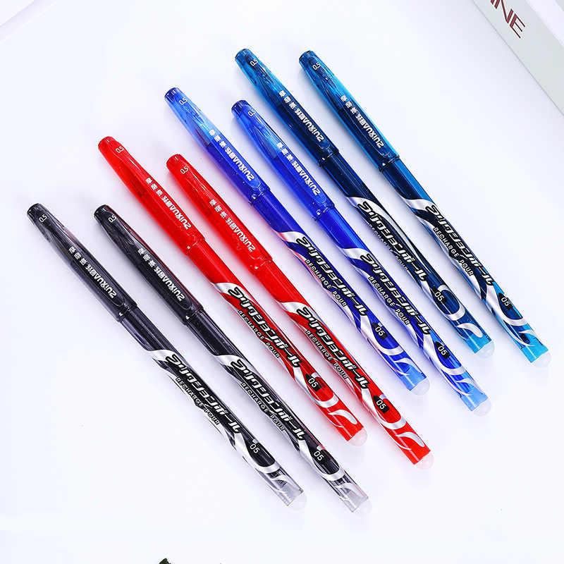 1 pçs preto apagável caneta 0.5mm nib corpo plástico completo canetas presente do negócio escrita caligrafia material de escritório da escola