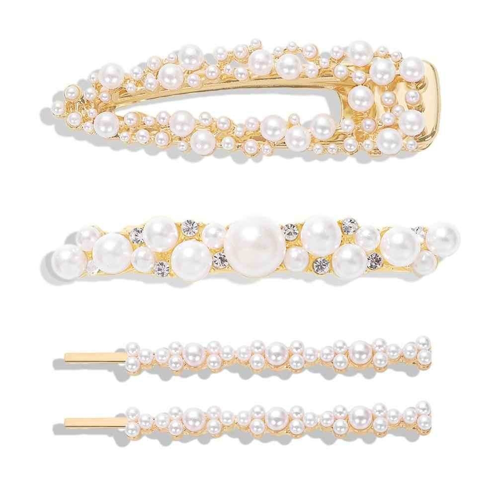 Dvacaman 2019 mode ZA bijoux de cheveux simulé perle épingles à cheveux ensembles pour femmes pinces à cheveux Barrettes Style coréen fête de mariage