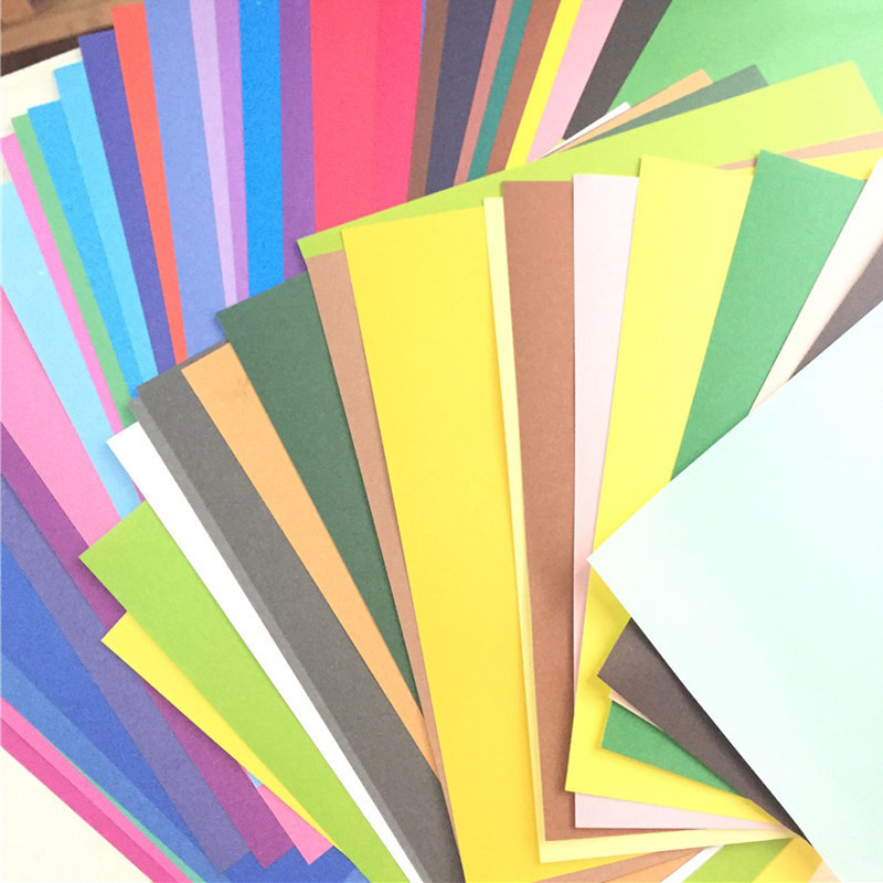 50colors/pack Packing Paper Multicolor Solid Color DIY Card Children Scrapbook Papers Origami Paper Handmade Craft Wrapping Gift