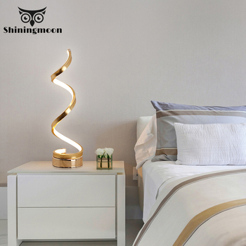 Modern Led Table Lamp Bedroom Black Iron Living Room Table Lamps Nordic Art Decor Kitchen Table Lighr Bedside Home Desk Light