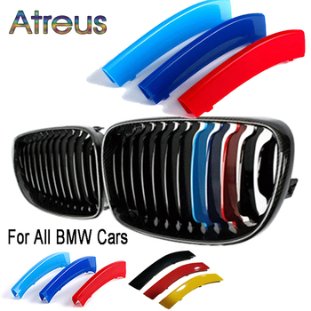 Front Grille Trim Strips For BMW 1 2 3 4 5 6 7 Series E87 F20 F40 F22 F12 F06 F01 G11 G20 G30 F10 F30 E90 E60 E39 E92 E46 Coupe image