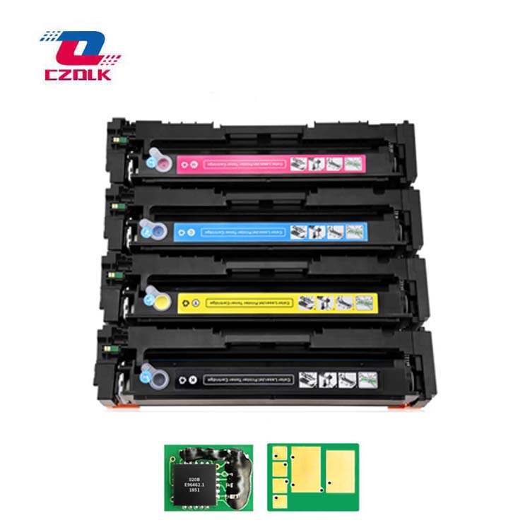 New Compatible 203a Toner Cartridge For HP CF540a CF541a CF542a CF543a M254dw 254nw MFP M281cdw 280nw BK=45G,CMY=40G + Chips Not