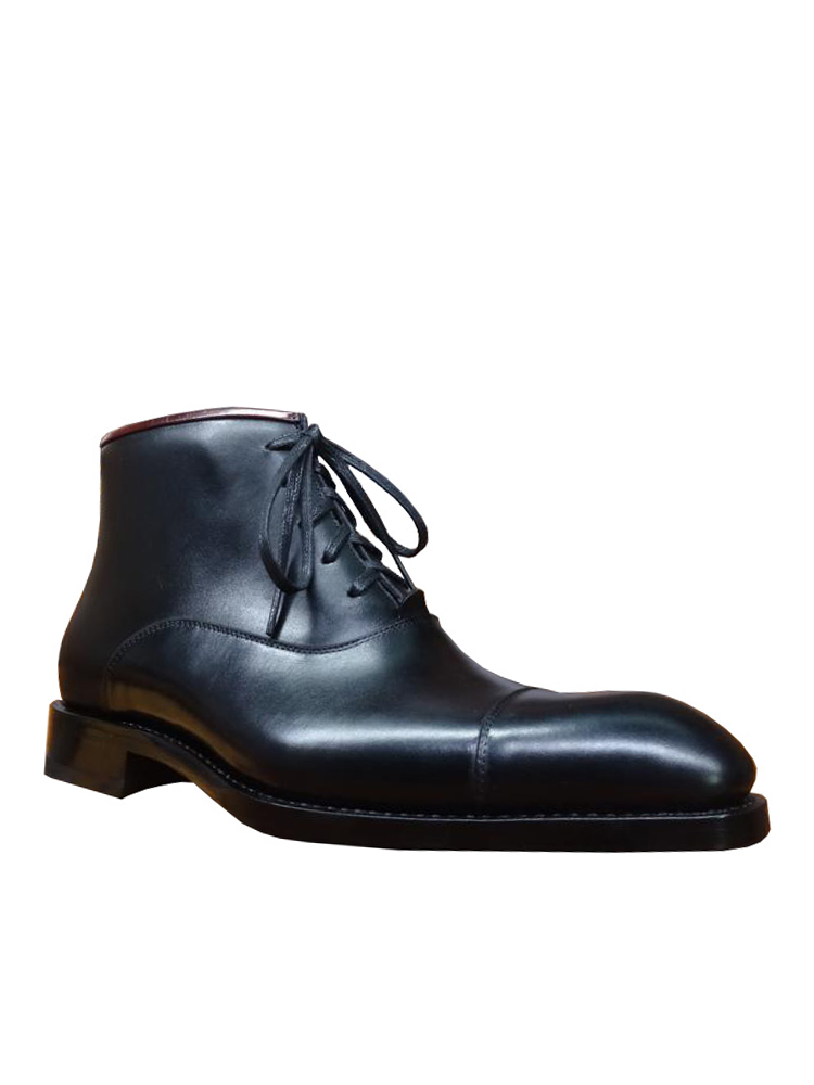 Boots GOODYEAR WELTED Dress Black Genuine-Leather Fashion Sipriks for Men Italian Bespoke