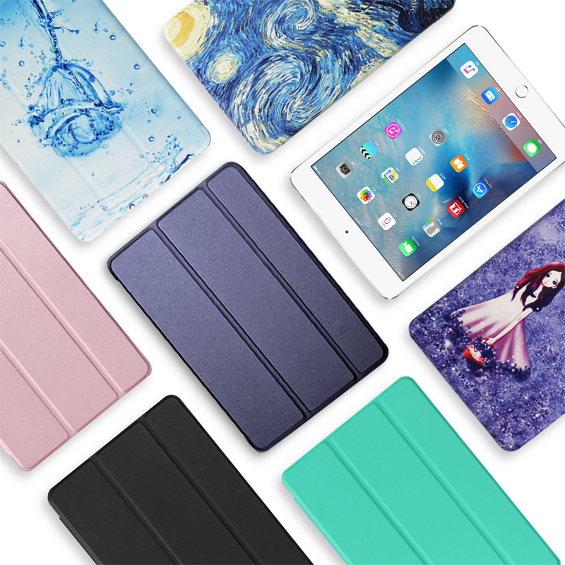 Case For iPad 10 2 inch 2020 Flip Trifold Stand Case PU Leather Full Smart Auto