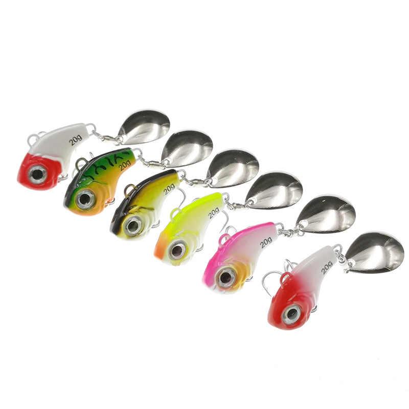 1Pcs Berputar Logam Vib Getaran Umpan Spinner Sendok Umpan Pancing 5/10/15/20G Jigs trout Memancing Musim Dingin Keras Umpan Tackle Pesca