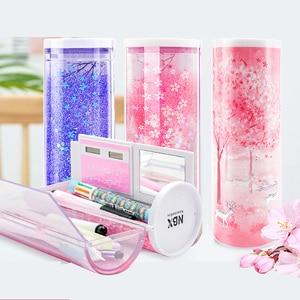 Image 2 - 2020 NEW Creative Whiteboard  kawaii Pencil Case With Solar Calculator Multifunctional Pencilcase  Pen Box For boy girls